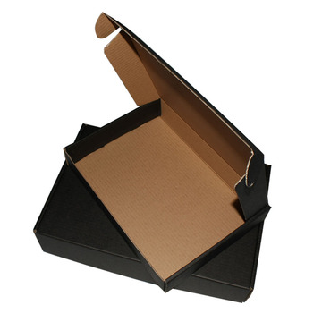 black corrugated paper box can with your logo