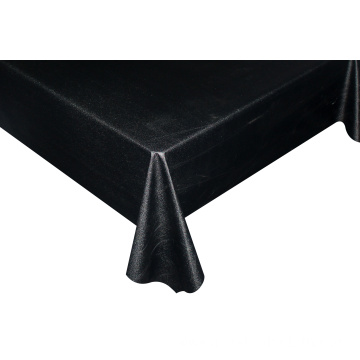 Solid Embossed Fabric Tablecloth Stretch Table Covers