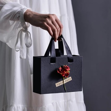 Luxury Black Kraft Paper Bag & Box