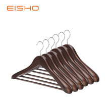Hot Sale for for Shirt Hangers EISHO Natural Finish Durable Wooden Suit Hangers export to Italy Exporter