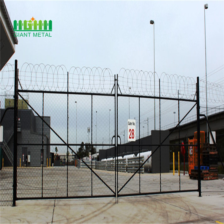Yard metal fence gate