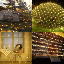 Gartendekorationen Led Net Mesh Fairy String Lights