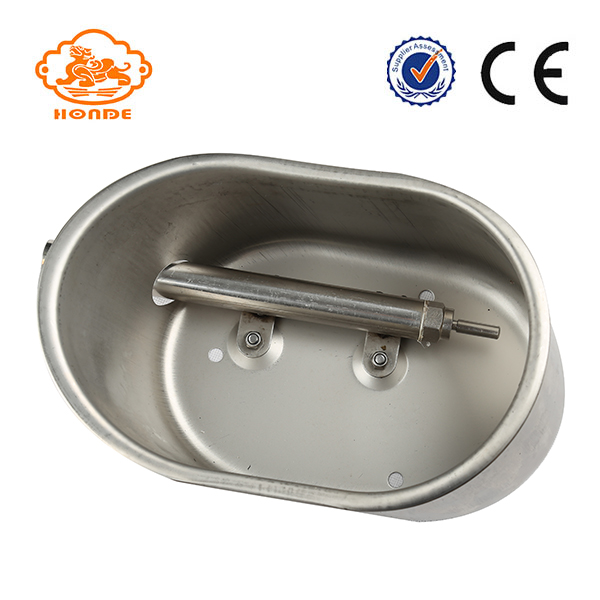 Oval Save Water Stainless Steel Automatic Pig Water