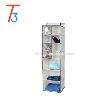 8 Pocket Shoe and 3 Shelf Hanging Closet &Sweater Organizer