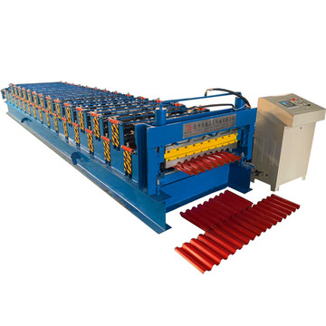 Factory price roofing double layer roll forming machine