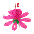 Chrysanthemum Birthday Non-Rotated Music Candle