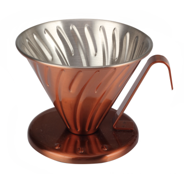 Copper or Pink Color Coffee Dripper