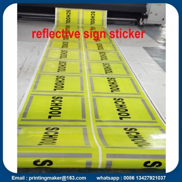 Reflective Vinyl Warning Sign Sticker