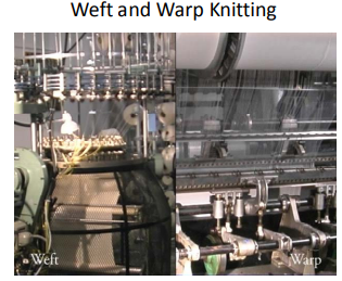 weft and warp knitting