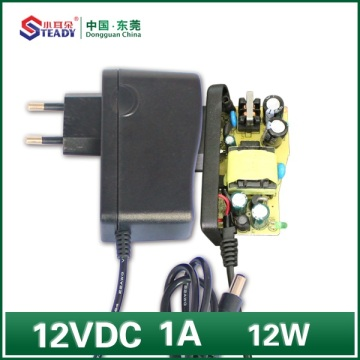 12W Plug Power Supply 12VDC 1A
