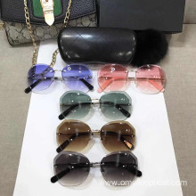 High Quality Rimless Sunglasses with Nylon Lens