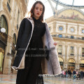 Women Reversible Cross Mink Fur Coat