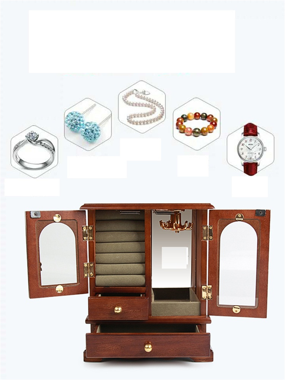 solid wood hot selling jewelry storage