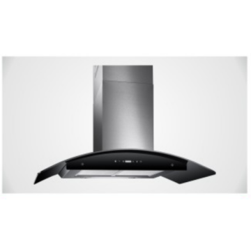 90cm Black Glass Kitchen Extractor Range Hoods