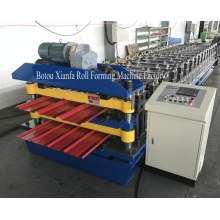 Factory directly sale for IBR Panel Roof Double Deck Roll Forming Machine New Double Trapezoidal Roll Forming Machine supply to Cayman Islands Importers