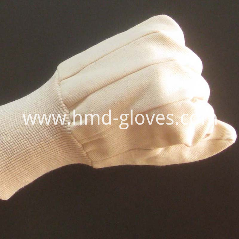 canvas industrial glove knit wrist