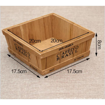 China box model home decoration wooden FlowerPot
