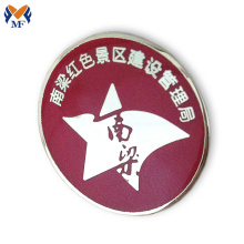 Purchasing for Personalised Pin Badges Custom red color printing logo pin badge supply to Canada Suppliers
