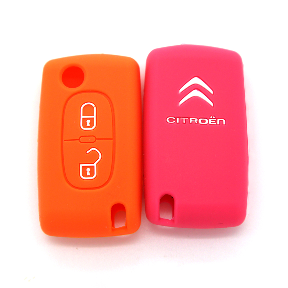 Dustproof silicone smart car key cover