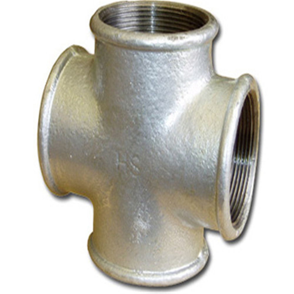 Female Cast Iron Cross four way pipe fitting