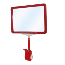 Plastic price poster sign holder clip