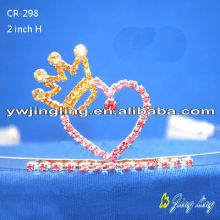 Heart Shape Holiday Wholesale Pageant Crowns