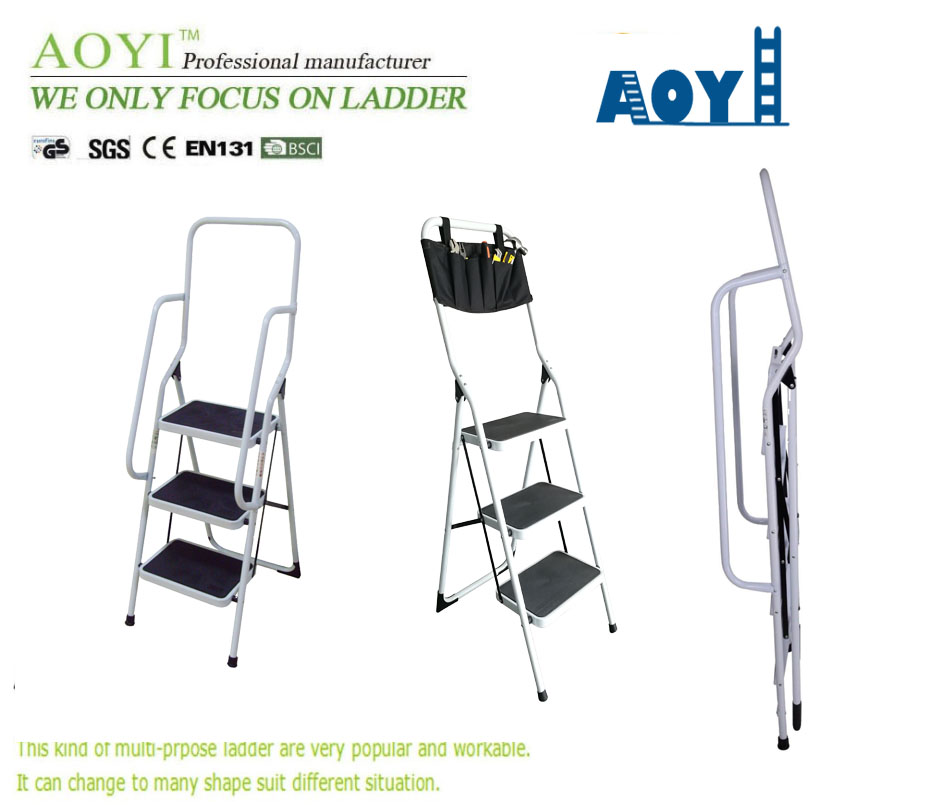 iron ladder with handrail