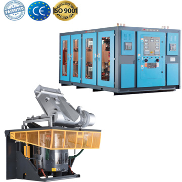 Small electric metal melt furnace for copper