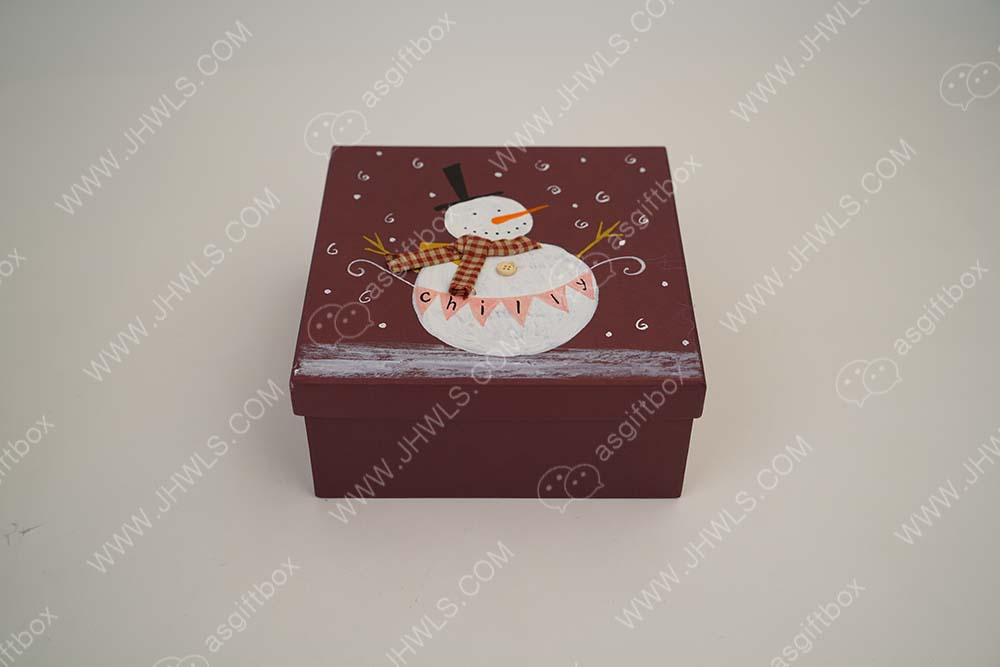 Hand-painted Christmas gift box