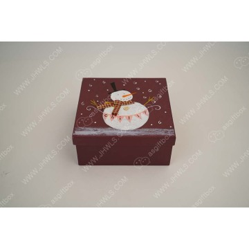 Hand-painted Snowman custom Christmas gift box