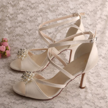 Satin High Heels Summer Shoes for Women