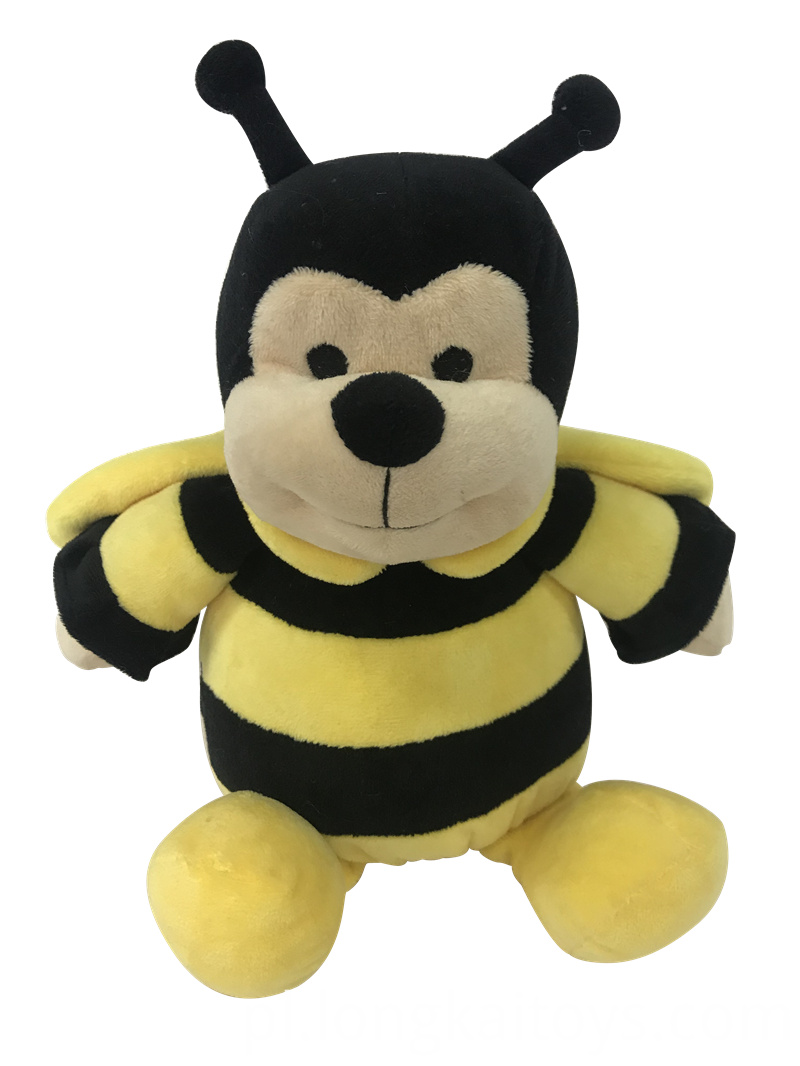 Plush Smiling Bee Toy