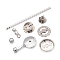 Metal Pepper Mill Grinder Parts Kit with Hand