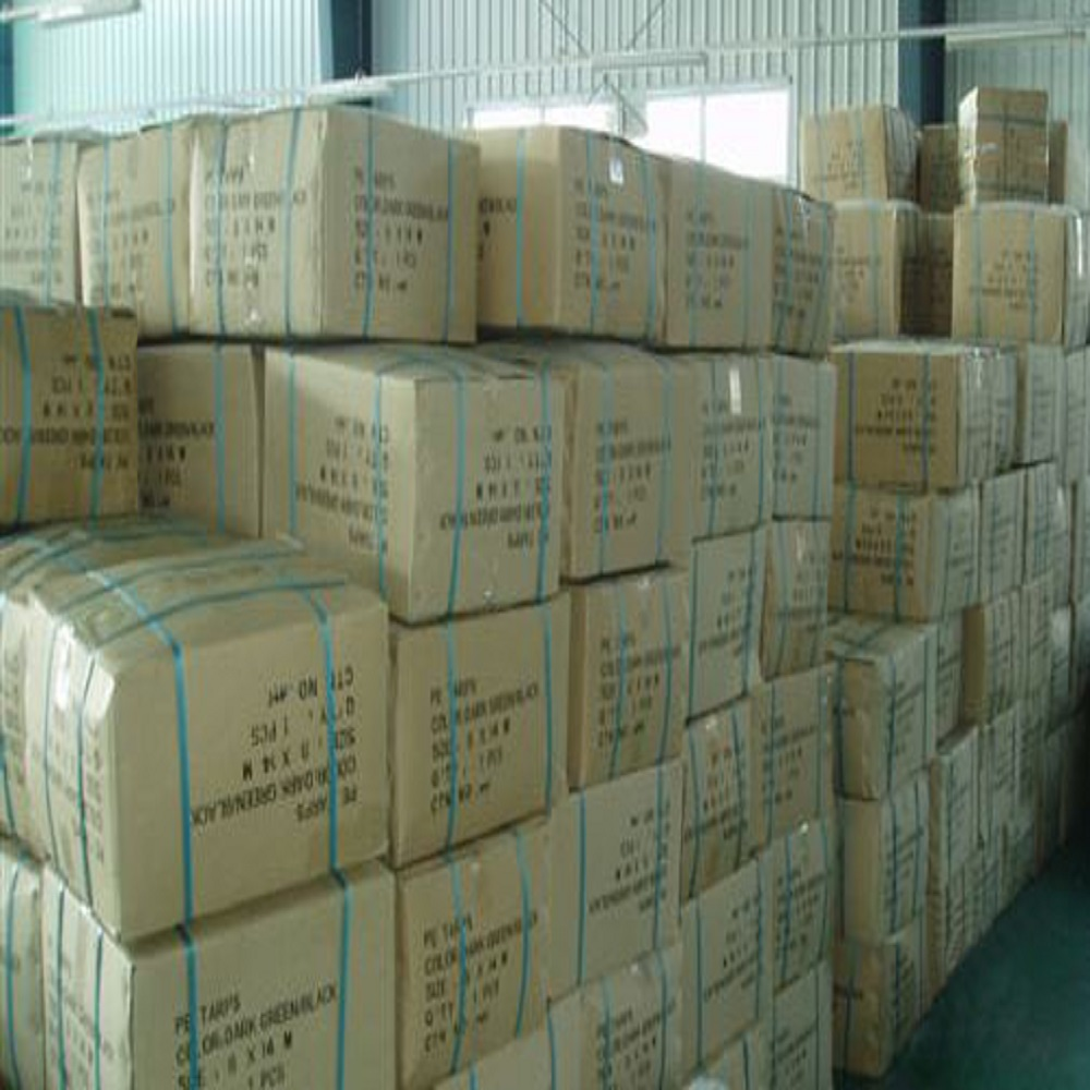 Red Tarpaulin Carton Packing