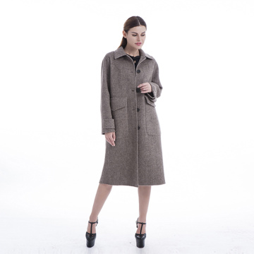 Single-breasted cashmere winter coat