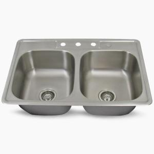 304 Stainless Steel Square Double Sink