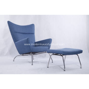 Good Quality for Fabric Wooden Lounge Chairs Modern Home Furniture Wing chair export to South Korea Exporter