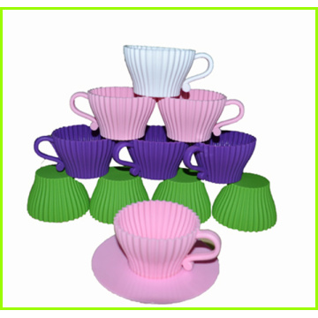 High Quality Silicone Bakeware Set With Plastic Saucer