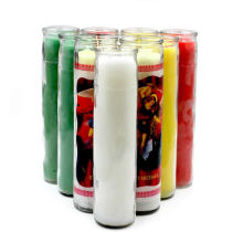Religious Glass Jar Vigil Prayer 7 Day Candles