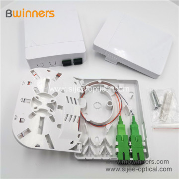 2019 Hotsale FTTH 2 Core Wall mount Fiber Optic Faceplate Wall Socket