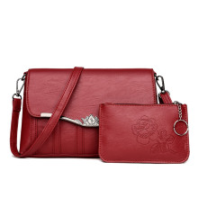 Rose pattern red hot women shoulder bags