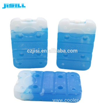 Plastic blue gel ice pack cooling gel box