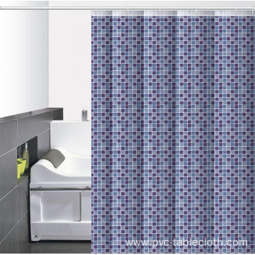 Waterproof Bathroom printed Shower Curtain Rail