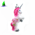 Colorful Customized Glass Unicorn Ornaments