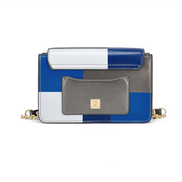 Spice and contrast color style shoulder bag