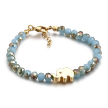China Cheap price for Gemstone Bead Bracelets Lucky elephant charm glass bead bracelet export to Russian Federation Suppliers