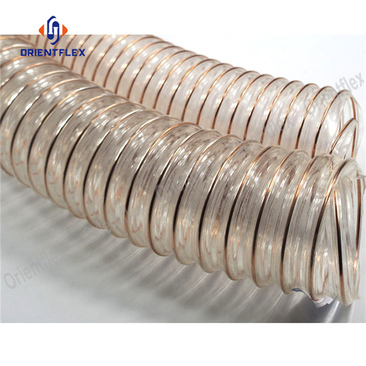 Pu Steel Duct Hose 1