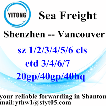 Shenzhen Sea Freight Shipping Company to Vancouver