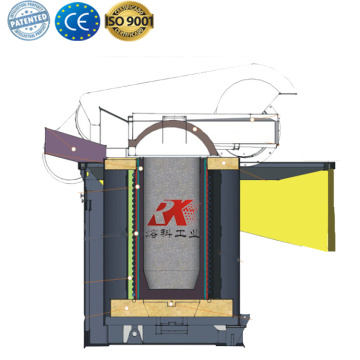 industrial scrap iron melting steel furnace