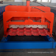 Metal glazed tile roofing sheet machine for Macedonia